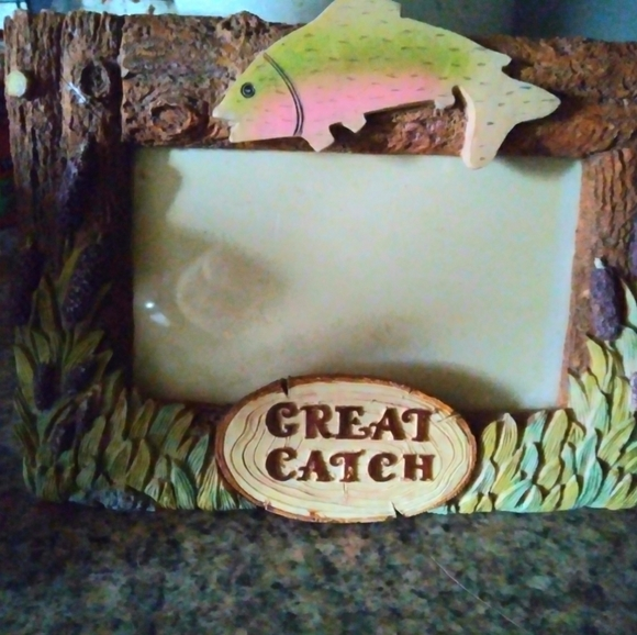 Fisherman picture frame